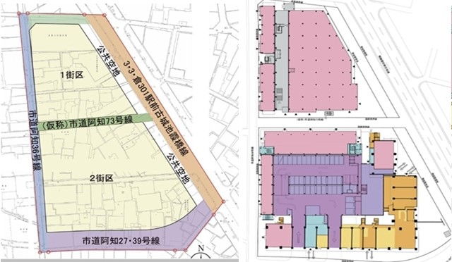 倉敷 再開発 完成 建物平面図